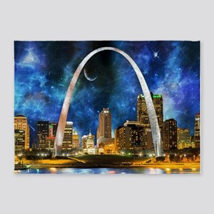 Spacey St. Louis Skyline 5'x7'Area Rug